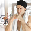 Man at gym - Stock Photo