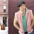 Fun fashion portrait of male - Stock Photo