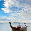 Royalty-Free Stock Photo: Seascape with exotic island and long tail boat in Thailand