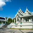 White buddhist temple in Krabi town — Stock Photo #9548098