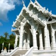 White buddhist temple in Krabi town, Thailand — Stock Photo #9548103