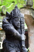 Traditional balinese warrior statue — Stock Photo