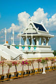 White buddhist temple in Krabi town, Thailand — Stock Photo