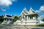 White buddhist temple in Krabi town — Stock Photo