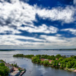 Stock Photo: Faked tilt shift town Wyborg, Russi- Finland border.