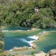 Krka in croatia - nationalpark and waterfalls — Stock Photo
