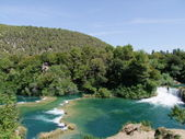 Krka - Nationalpark in croatia - waterfalls — Stock Photo