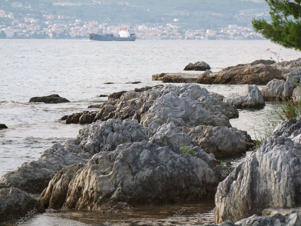 Rocks on the coast of croatia — Stock Photo #8839006
