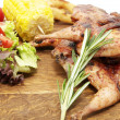 Grilled quail — Stock Photo