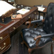 Stock Photo: Office with a desk and chair, American-styl