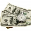 Dollars and a stopwatch — Stock Photo #8961233