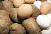 Potatoes and Eggs — Stock Photo