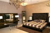 Large bedroom — Stock Photo