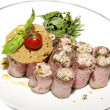 Royalty-Free Stock Photo: Meat rolls with herbs