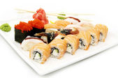 Plate of Japanese Sushi — Stock Photo