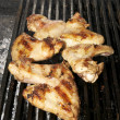 Chicken wings on the grill — Stock Photo #9175909