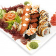 Stock Photo: Plate of sushi
