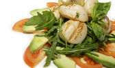 Salad of scallops — Stock Photo