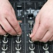 Hands disc jockey — Stock Photo