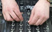 Hands disc jockey — Stock Photo