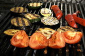 Vegetables on the grill — Stock Photo