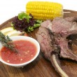 Grilled rib — Stock Photo