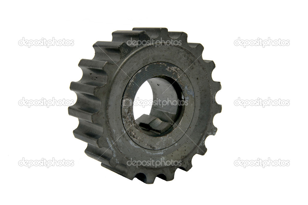 A gear for a car on a white background  Stock Photo #9770816