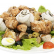Salad of fish and eggs - Stock Photo