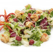 Salad greens and shrimp — Stok fotoğraf