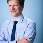 Portrait of confident adult businessman — Stock Photo