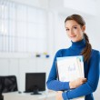 Female assistant — Stock Photo