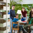 Group of in library — Stock Photo