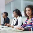 Stock Photo: Women working in call center