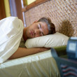 Young adult man sleeping — Foto Stock