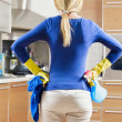 Stock Photo: Womdoing housekeeping