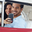 Stock Photo: Taking souvenir picture with mobile telephone