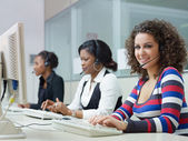 Women working in call center — Stock Photo