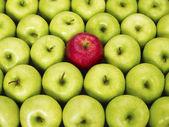 Kırmızı ve yeşil elma — Stok fotoğraf