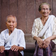 Stock Photo: Portrait of two senior asiwomen looking at camera