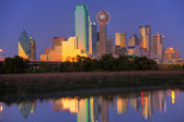 Dallas, TX Skyline at Dusk — Stock Photo