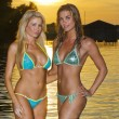 Stock Photo: Bikini Models at Sunset