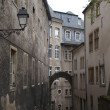 The gate to the Old City. Luxembourg - Stock Photo