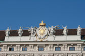 Holy Roman Empire coat of arms, Hofburg castle, Vienna — Stock Photo
