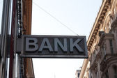 Bank business corporation office sign — Stock Photo