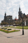 Beautiful cityscape of old Dresden — Stock Photo