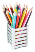 Pencils in a Box — Stock Photo