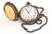 Antique gold pocket watch — 图库照片