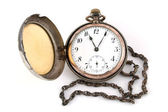 Antique gold pocket watch — Stock Photo