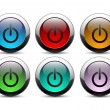 Stock Vector: Power buttons