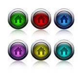 Modern home button — Stock Vector